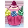 la recette de cuisine Cupcake princesse - jeux de cuisine gratuit en ligne thé ou chocolat
