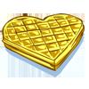 la recette de cuisine Gaufre coeur - jeux de cuisine gratuit en ligne thé ou chocolat