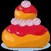 la recette de cuisine Religieuse à la fraise - jeux de cuisine gratuit en ligne thé ou chocolat